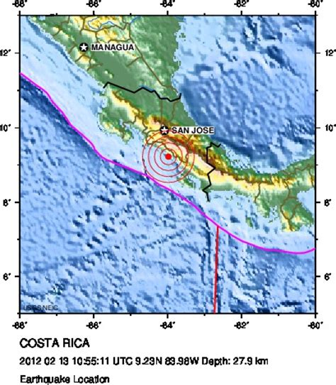 earthquake costa rica costa rica earthquake z6mag