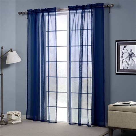dark blue curtains bedroom dark blue europe style punching sheer curtain balcony