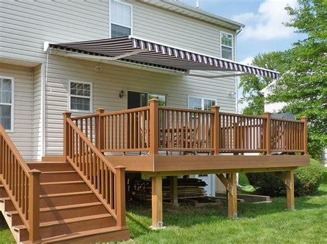 retractable awnings for decks 25 best ideas about deck awnings on pinterest sun