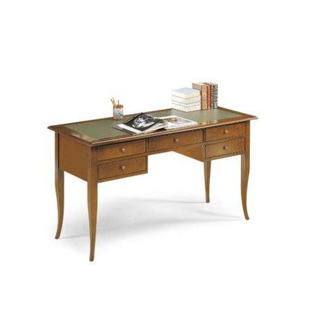 larghezza scrivania scrivania color noce con superficie rivestita in pelle