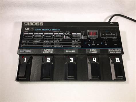 Multi Effect me 5 guitar effects pedal electric denim