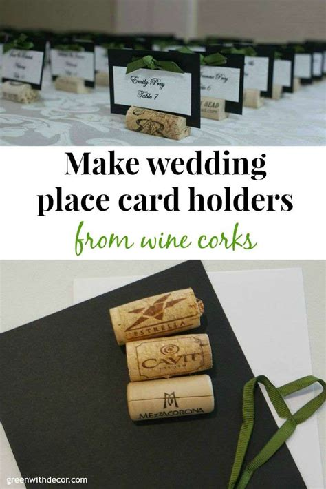 how to make place cards for weddings green with decor wedding place cards from wine corks