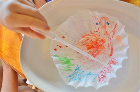 Coffee Filter Paper Crafts - tie dye coffee filter craft for surviving a
