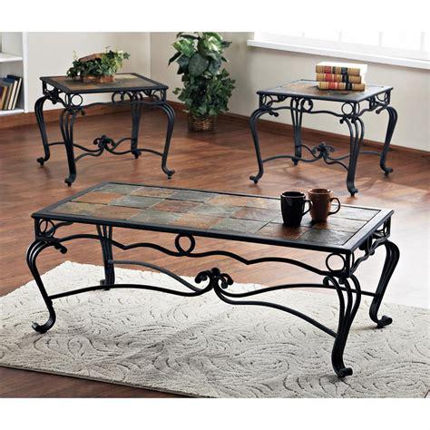 slate tables living room set of 3 verona slate tables 144980 living room at