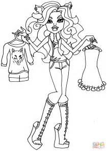 fashion doll coloring pages i fashion clawdeen wolf coloring page free