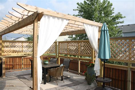 Pergola With Curtains Diy Pergola Curtains Diy