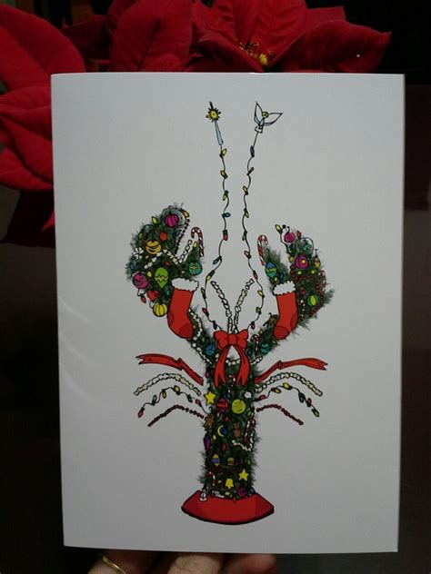 cool maine lobster christmas card beautiful photos