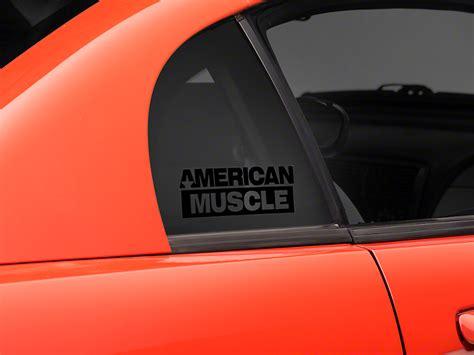 mustang back window decals mustang americanmuscle quarter window decal black 94 04