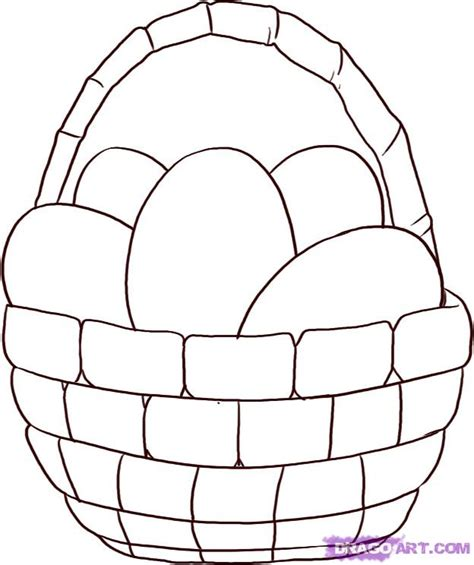 Kaos Bunny And Egg Basket Drawing how to draw an easter egg basket step 4 stuff