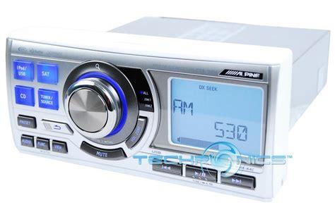 alpine boat stereo alpine marine audio cd mp3 ipod boat tuner receiver w usb