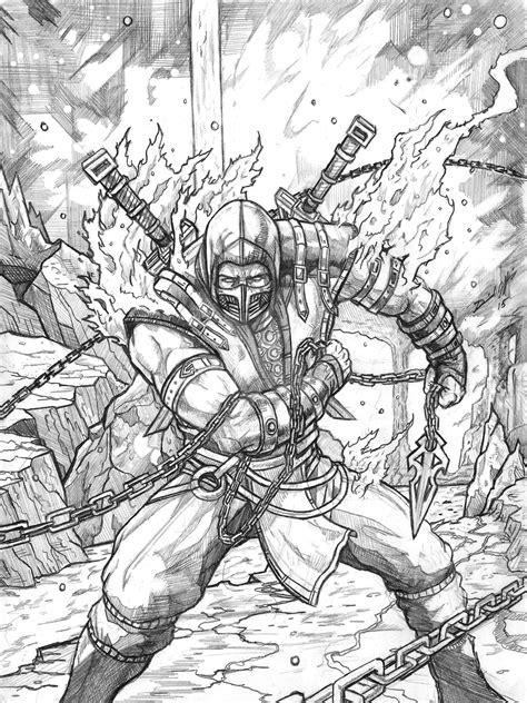 Mortal Kombat X Sketches by Mortal Kombat X Scorpion By Daniel Jeffries On Deviantart