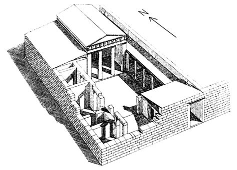 ancient greek house plan ancient greece house plan