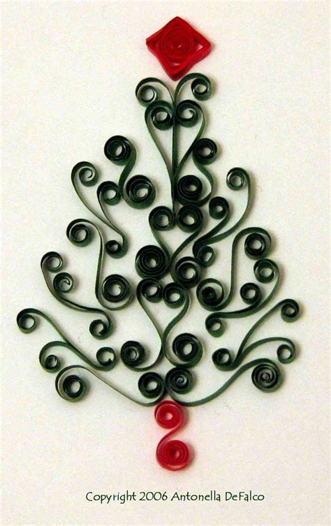 free quilling christmas tree pattern camq quill