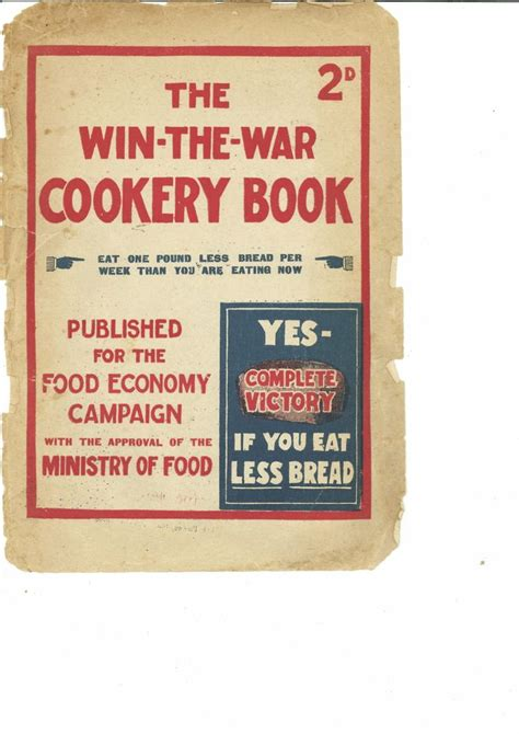 the winning of the carbon war books win the war cookery book wwi food