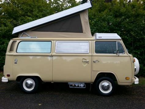 volkswagen westfalia 1978 buy used 1978 vw westfalia deluxe bus pop top camper van 2