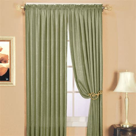 essential home curtains essential home luxury crushed faux silk panel sage