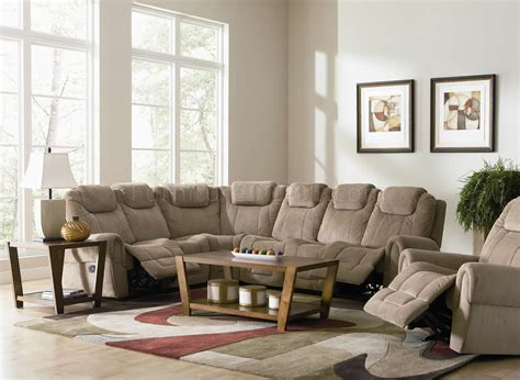 sectional sofas with recliners tan fabric modern motion sectional sofa w optional recliner