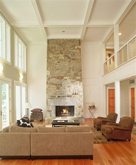 two room fireplace two story fireplace living room rustic with wood