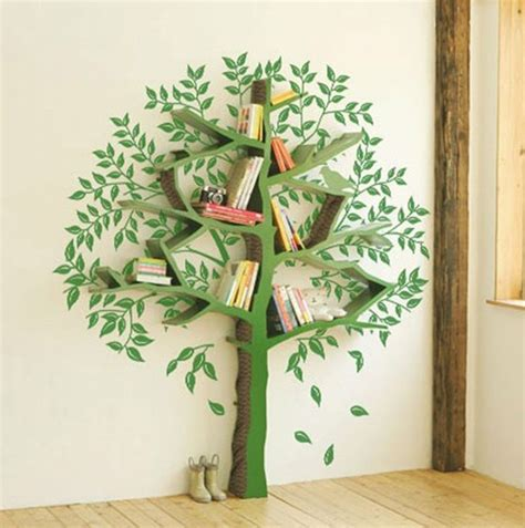 tree branch bookcase tree bookshelf books diy tree