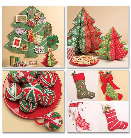 Patterns Christmas Decorations Sew | mccalls 5778 sewing pattern christmas decorations