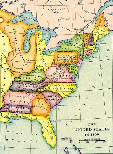 map of the united states in 1800 the united states in 1800 archiving early america