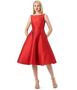 Adrianna papell sleeveless midi taffeta dress dillards com