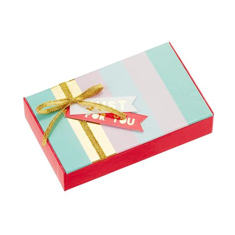Gift Card Gift Box - just for you striped gift card box the container store