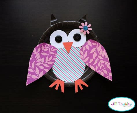 Owl Paper Plate Craft - paper plate owls paper plate
