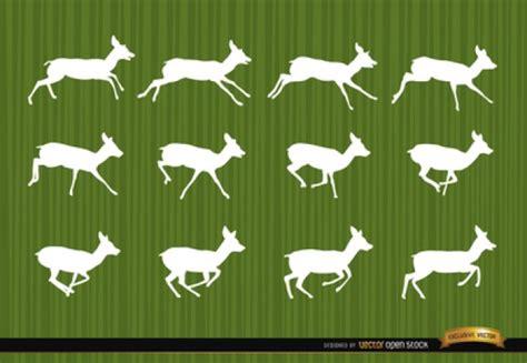 secuencia de imagenes en movimiento amor ciervo saltando siluetas secuencia de vectores descargar