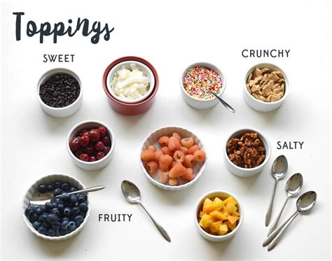 ice cream bar toppings list how to create the perfect ice cream sundae bar personal