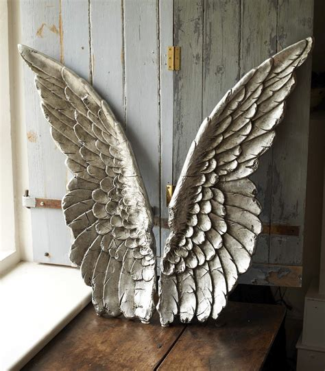large size resin angel wing decor