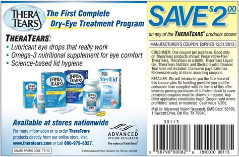 for eyes printable coupons save 2 00 on any of the theratears products below