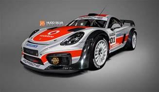 Rally Porsche Porsche Cayman Gt4 Rally Car Rendered As The Racecar We