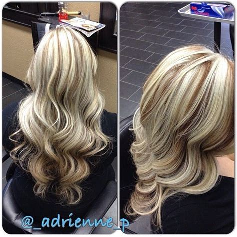 blonde base colours brown highlights picmia