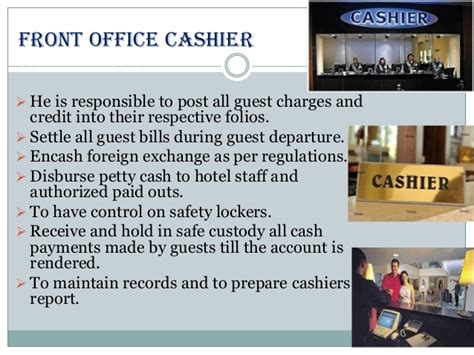 sections and layout of front office sections of front office department in hotels