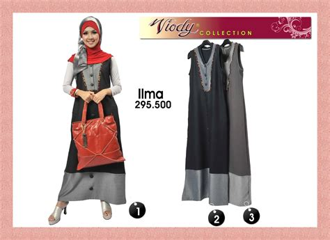 Gamis Denim Kombinasi viodycollection gamis abaya