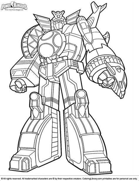 power rangers robot coloring pages power rangers coloring picture