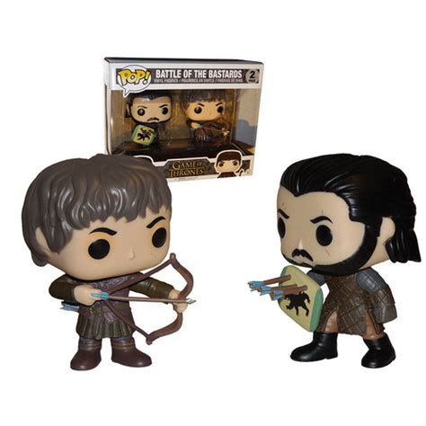 Funko Pop Set Of Thrones Battle Of The funko pop of thrones battle of the bastards pack jon snow ramsay bolton mint your