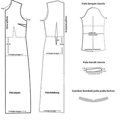 membuat pola jahitan baju pola gamis dengan krah syal cara menjahit pakaian