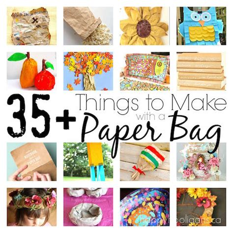 Things To Make With A Of Paper - 35 cool things to make with a paper bag happy