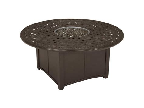 tropitone garden terrace aluminum 55 pit table