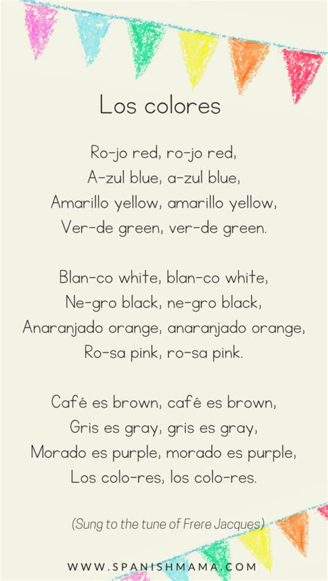 color songs for preschool preschool lesson 6 los colores preschool