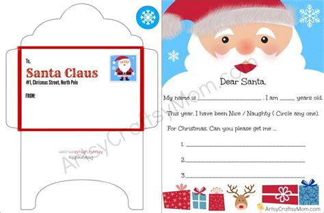 printable envelope from santa free printable letter to santa and envelope for children