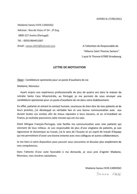 Cv Franàçais Modèle by Sle Cover Letter Exemple De Lettre De Motivation Originale