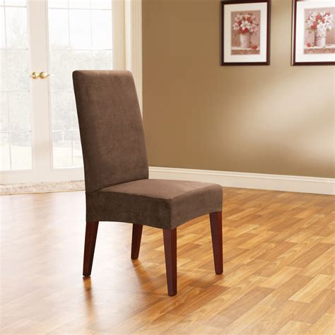 Chair Slipcovers Dining Room | sure fit soft suede short dining room chair covers chair