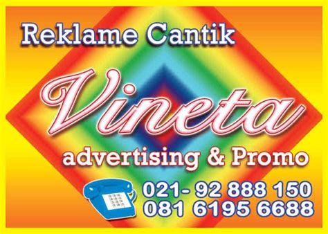 Stiker Timbul Food reklame cantik vineta