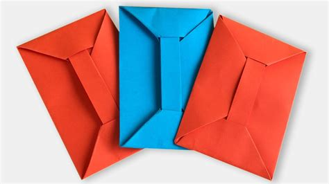 How To Make A Paper Envelope Without Glue - origami scenic fold paper envelope fold paper letter into