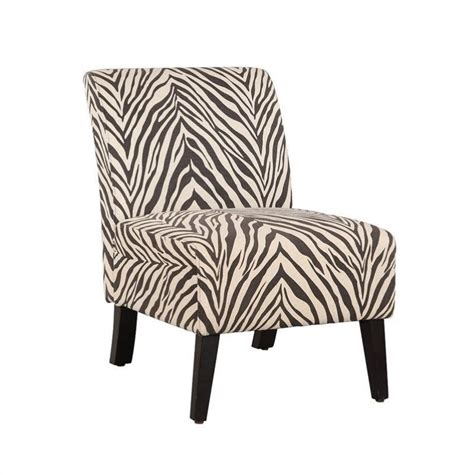 Zebra Print Accent Chair Features