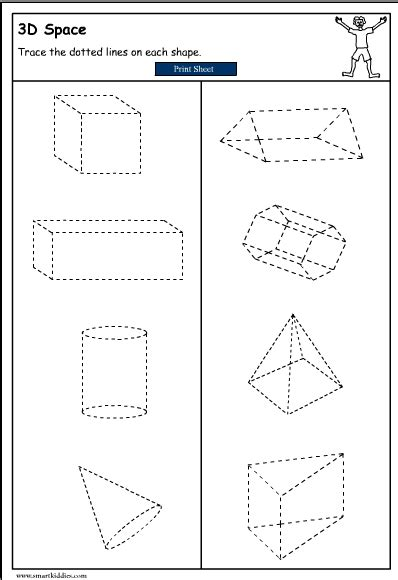Drawing 3d Shapes Worksheet by Drawing 3d Objects Mathematics Skills Interactive