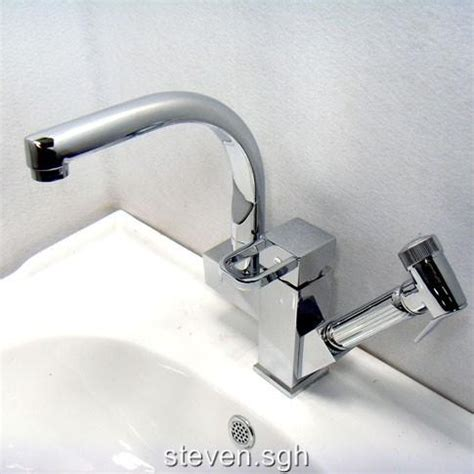 Held Faucet by Pull Out Kitchen Mixer Tap With Spray Handheld Shower 6238